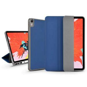 Apple iPad Air 4 10.9 (2020) védőtok (Smart Case) Apple Pencil tartóval - Devia Leather Case - kék