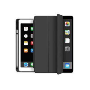 Apple iPad Air 4 10.9 (2020) védőtok (Smart Case) on/off funkcióval, Apple Pencil tartóval - fekete (ECO csomagolás)