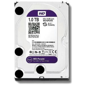 """HDD 3,5"""" 1TB WD SATA3 64MB 5.4 WD10PURZ PURPLE 3ÉV"""