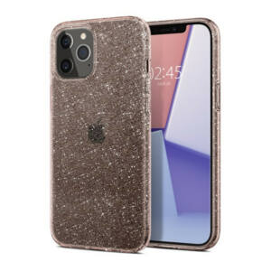 SPIGEN LIQUID CRYSTAL GLITTER APPLE IPHONE 12/12 PRO ROSE QUARTZ TOK, ÁTLÁTSZÓ