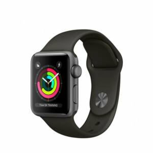 Apple Watch Series 3 38mm Aluminum Gray Gray MR352 okosóra