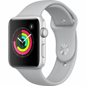 Apple Watch Series 3 42mm Aluminum Silver Fog MQL02 okosóra