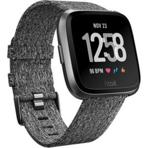 FITBIT VERSA OKOSÓRA , S & L, CHARCOAL WOVEN, SPECIAL EDITION