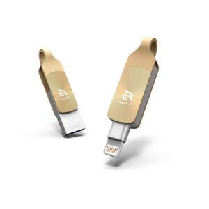 iKlips DUO+ 128GB Lightning/USB3.1 Flash Drive, arany