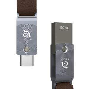 ADAM elements ROMA Series 64GB USB-C/USB3.0 Flash Drive, szürke