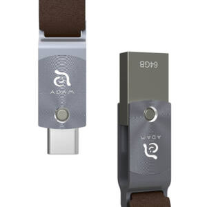ADAM elements ROMA Series 64GB USB-C/USB3.0 Flash Drive, szürke