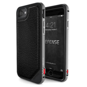 Defense Lux védőtok iPhone 7 Plus / 8 Plus Fekete Bőr