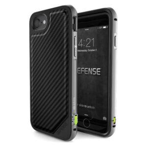 Defense Lux védőtok iPhone 7 Plus / 8 Plus Fekete Karbon