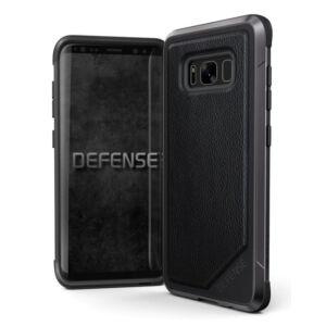 Defense Lux védőtok Samsung S8 Fekete Bőr