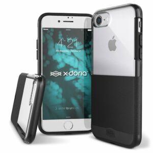 X-Doria Dash védőtok iPhone SE 2020 / iPhone 7 / iPhone 8 Fekete Bőr
