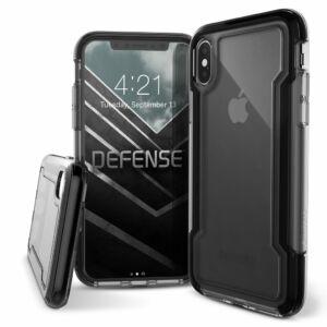 Defense Clear védőtok iPhone X Fekete