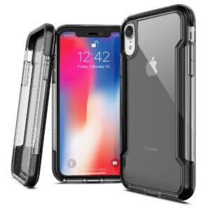 Defense Clear iPhone XR tok - Fekete
