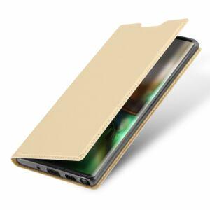 Samsung G770 Galaxy S10 Lite DUX DUCIS SKIN PRO tok álló, bőr hatású  ARANY