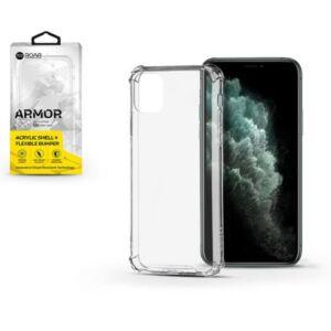 Apple IPhone 11 Pro Max - ROAR GEL ARMOR szilikon telefonvédő (közepesen ütésálló, légpárnás sarok, karbon minta) Átlátszó