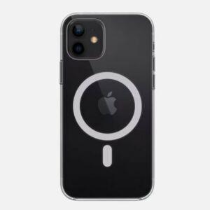Apple Iphone 12 mini 5,4col MAGSAFE kompatibilis közepesen ütésálló szilikon tok, fekete