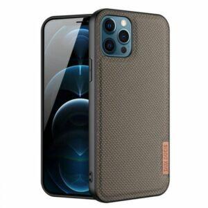 Apple Iphone 12 mini - DUX DUCIS FINO szilikon telefonvédő (műanyag belső, közepesen ütésálló, rács minta) FEKETE