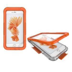Apple Iphone 7 / 8 tok Vízhatlan / vízálló tok, AQUA (10 méterig) NARANCS