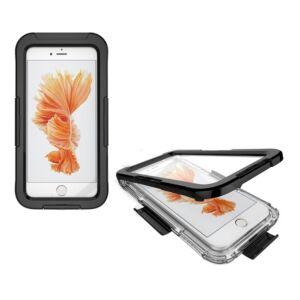 Apple Iphone 7 Plus / 8 Plus vízhatlan / vízálló tok, AQUA (10 méterig) FEKETE