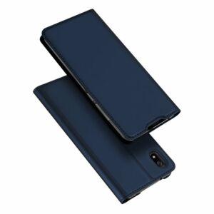 DUX DUCIS SKIN PRO tok álló, bőr hatású SÖTÉTKÉK - Samsung Galaxy A51