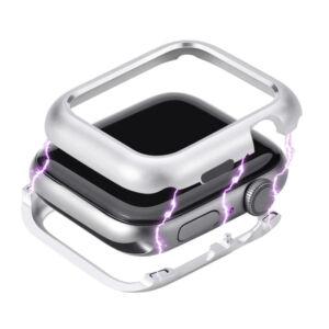 Fém keret (mágneses) EZÜST Apple watch 4 / 5 44mm