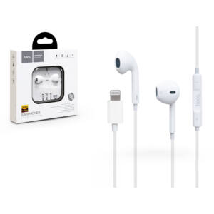 HOCO sztereó felvevős fülhallgató - Lightning and Bluetooth - HOCO L7 Plus Earpods for iPhone - white