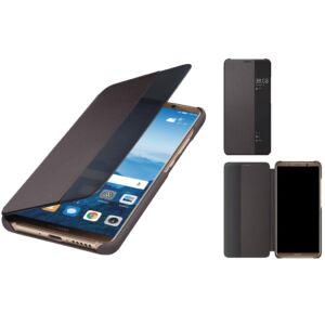 Huawei Mate 10 Pro gyári S-View flip tok, sötét barna