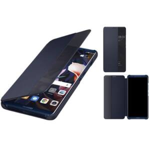 Huawei Mate 10 Pro gyári S-View flip tok, sötét kék