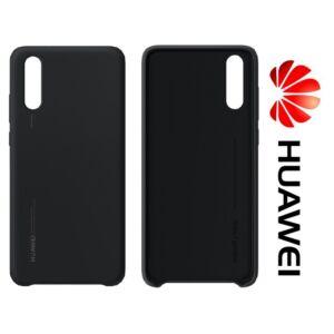 Huawei P20, gyári szilikon tok, fekete