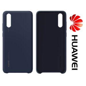 Huawei P20, gyári szilikon tok, sötétkék