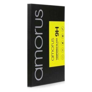 Huawei P30 Pro AMORUS képernyővédő üveg (3D full cover, full glue, teljes felületén tapad, karcálló, 0.3mm, 9H) FEKETE