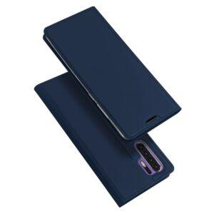 Huawei P30 Pro, DUX DUCIS SKIN PRO tok álló, bőr hatású (FLIP, oldalra nyíló, bankkártya tartó, asztali tartó funkció) SÖTÉTKÉK