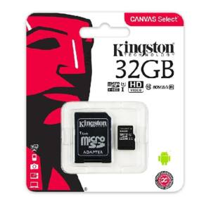 Kingston 32 GB microSDHC™ UHS-1 80MB/s memóriakártya