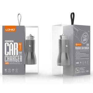 LDNIO C407Q Car QC3.0 Fast Charger 36W - 2 USB kapus autós töltő + microUSB adatkábel