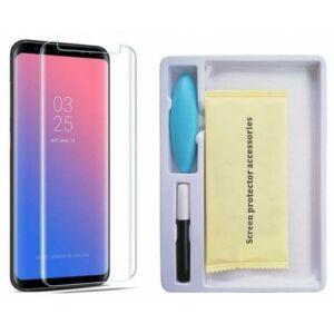 Nano Optics Curved Glass - 3D védőfólia UV ragasztóval és lámpával - Samsung G973 Galaxy S10