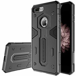 NILLKIN DEFENDER II. szilikon telefonvédő (műanyag belső, közepesen ütésálló, logo kivágás) FEKETE, Apple Iphone 7 / 8 készülékhez