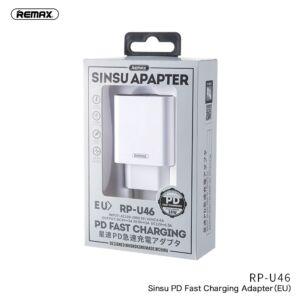REMAX SINSU RP-U46 TYPE-C hálózati gyorstöltő adapter