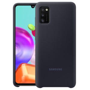 Samsung A415 Galaxy A41 gyári eredeti szilikon telefonvédő, EF-PA415TBEGEU FEKETE