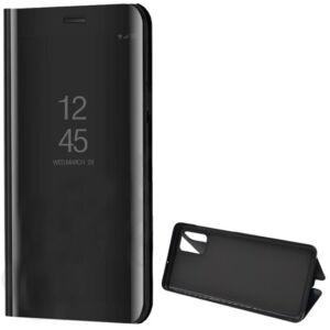 Samsung A515F Galaxy A51 Tok álló (aktív flip, oldalra nyíló, asztali tartó funkció, tükrös felület, Mirror View Case) FEKETE