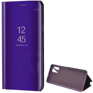 Samsung A515F Galaxy A51 Tok álló (aktív flip, oldalra nyíló, asztali tartó funkció, tükrös felület, Mirror View Case) LILA