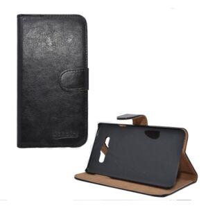 Samsung A705 Galaxy A70, Tok álló, bőr (FLIP, oldalra nyíló, asztali tartó funkció) FEKETE