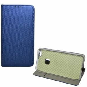 Samsung A715 Galaxy A71 tok álló, bőr hatású -  SÖTÉTKÉK