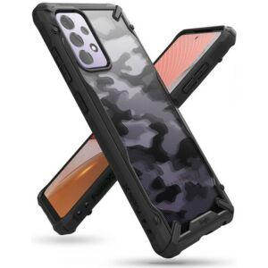 Samsung A725F Galaxy A72 4G/A726B Galaxy A72 5G ütésálló hátlap - Ringke Fusion X - camo black