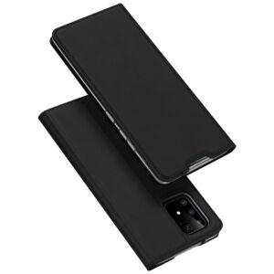 Samsung G770 Galaxy S10 Lite DUX DUCIS SKIN PRO tok álló, bőr hatású FEKETE