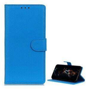 Samsung G770 Galaxy S10 Lite tok álló, bőr hatású VILÁGOSKÉK