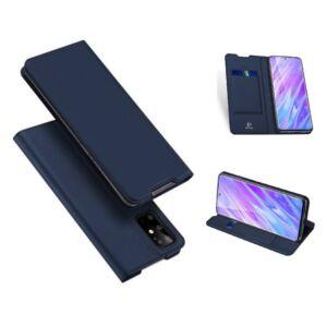 Samsung G980 Galaxy S20 - DUX DUCIS SKIN PRO tok álló, bőr hatású - SÖTÉTKÉK