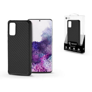 Samsung G985F Galaxy S20+ szilikon hátlap - Roar Carbon Armor Ultra-Light Soft Case - fekete