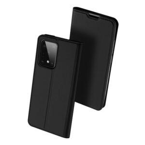 Samsung G988 Galaxy S20 ULTRA - DUX DUCIS SKIN PRO tok álló, bőr hatású - FEKETE