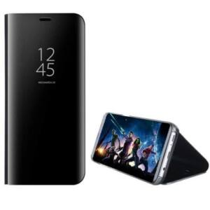 Samsung Galaxy A71 Mirror View Case álló fliptok - FEKETE