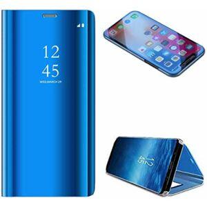 Samsung Galaxy A71 Mirror View Case álló fliptok - VILÁGOSKÉK