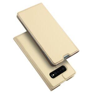 Samsung Galaxy S20 - DUX DUCIS SKIN PRO tok álló, bőr hatású - ARANY